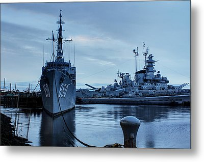 Battleship Cove Metal Print by Andrew Pacheco