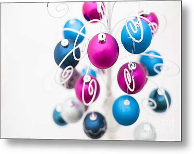 Baubles From Above Metal Print by Anne Gilbert