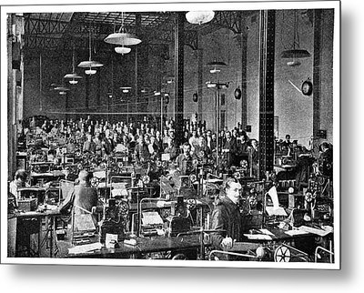 Baudot Telegraph System Metal Print by Science Photo Library