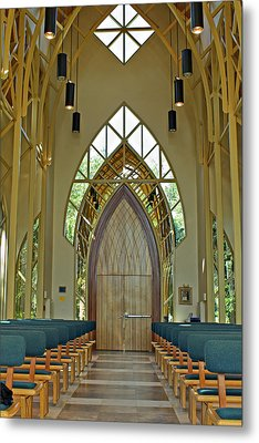 Metal Print featuring the photograph Baughman Meditation Center - Inside Front by Farol Tomson