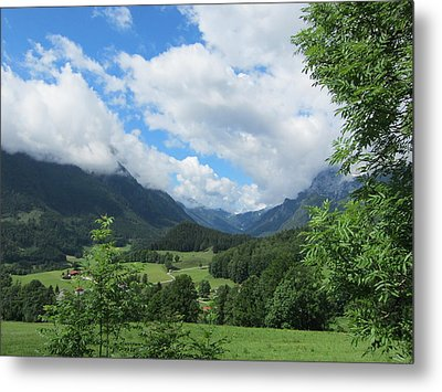 Bavarian Countryside Metal Print
