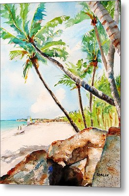 Bavaro Tropical Sandy Beach Metal Print by Carlin Blahnik