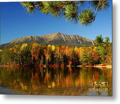 Baxter Fall Reflections  Metal Print by Alana Ranney