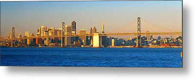Bay Bridge & San Francisco From Port Metal Print