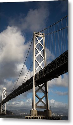 Bay Bridge After The Storm Metal Print by John Daly