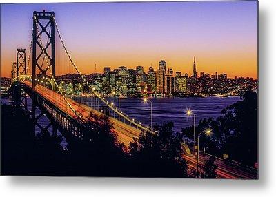 Bay Bridge At Dusk, San Francisco Metal Print