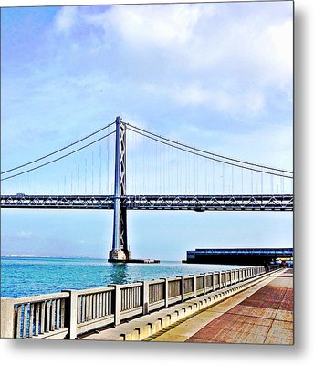 Bay Bridge Metal Print by Julie Gebhardt