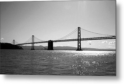 Bay Bridge Metal Print by Rona Black