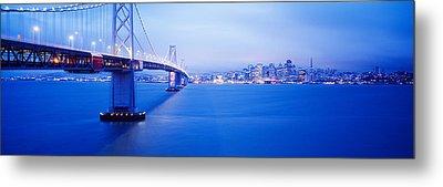 Bay Bridge San Francisco Ca Metal Print