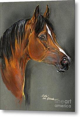 Bay Horse Portrait Metal Print by Angel  Tarantella