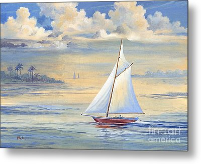 Bay Of Palms Metal Print by Paul Brent