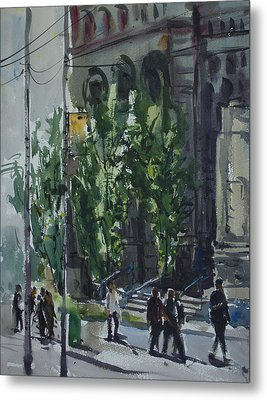 Metal Print featuring the painting Bay Street_03.jpg by Helal Uddin