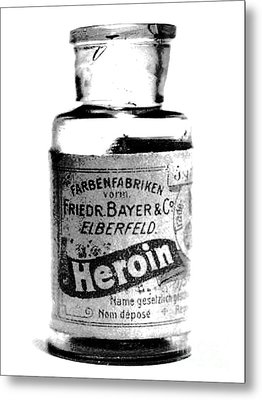 Bayer Company Sells Heroin Around 1900 Metal Print by Merton Allen
