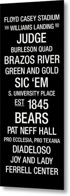 Baylor College Town Wall Art Metal Print by Replay Photos