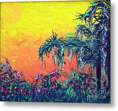Metal Print featuring the painting Bayou Honeymoon by Alys Caviness-Gober