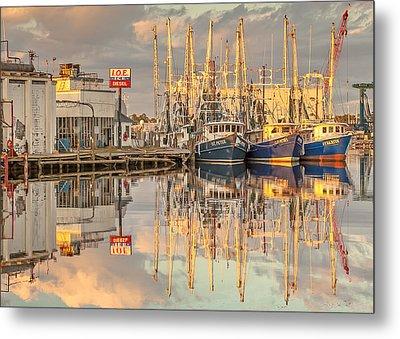 Bayou La Batre' Al Shrimp Boat Reflections 39 Metal Print by Jay Blackburn