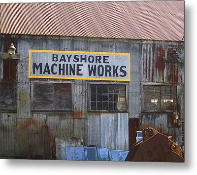 Bayshore Machine Works  Metal Print by Kym Backland