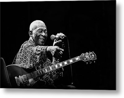Bb King Metal Print by Alice Lorenzini