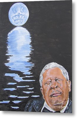 Bb King Painting Metal Print by Jeepee Aero