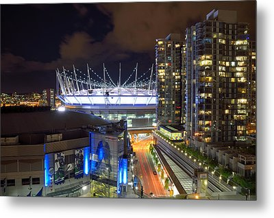 Metal Print featuring the photograph Bc Place  by Kathy King