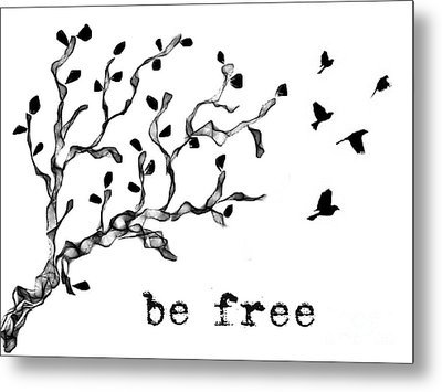 Be Free Metal Print by Jennifer Kimberly