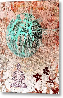 Metal Print featuring the painting Be The Buddha by Jacqueline McReynolds