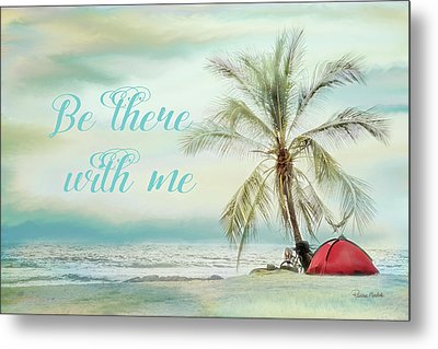 Be There Beach II Metal Print by Ramona Murdock