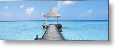 Beach & Pier The Maldives Metal Print