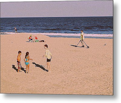 Beach Activities Metal Print
