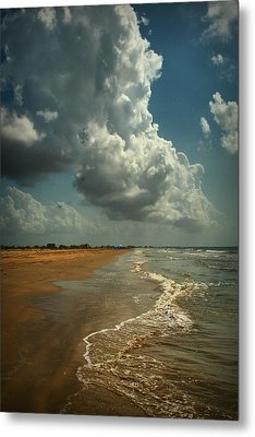 Beach And Clouds Metal Print by Linda Unger