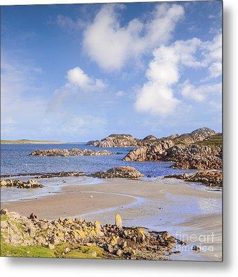 Beach At Fionnphort Mull Scotland Metal Print
