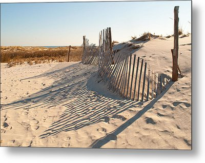 Beach At Lbi Metal Print