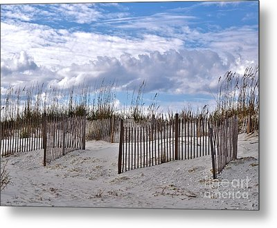 Metal Print featuring the photograph Beach At Pawleys Island by Kathy Baccari