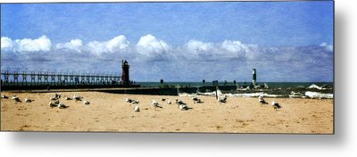 Beach At South Haven  Metal Print by Michelle Calkins