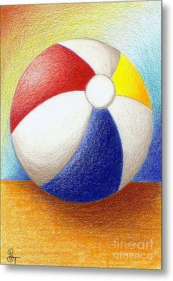 Beach Ball Metal Print by Stephanie Troxell