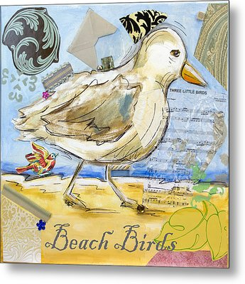 Beach Birds Metal Print