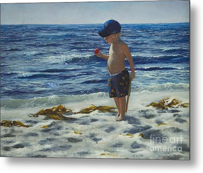 Metal Print featuring the painting Beach Boy by Jeanette French
