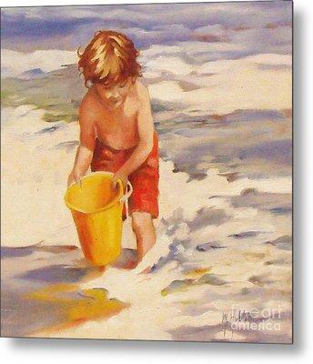 Beach Boy Metal Print by Mary Hubley