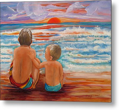 Beach Buddies II Metal Print