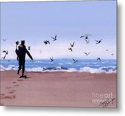 Beach Buddies Metal Print by Suzanne Schaefer