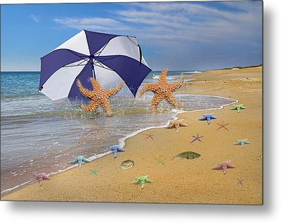 Beach Bums Metal Print by Betsy Knapp
