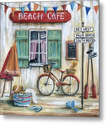 Beach Cafe Metal Print
