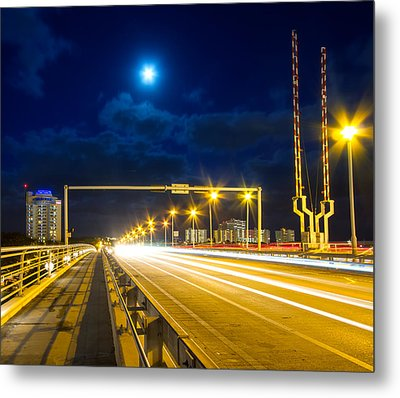 Beach Causeway Metal Print by Mark Andrew Thomas