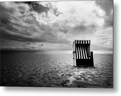 Beach Chair Metal Print by Marc Huebner