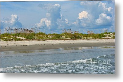 Beach Clouds Metal Print