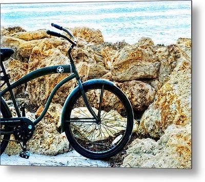 Beach Cruiser - Bicycle Art By Sharon Cummings Metal Print by Sharon Cummings