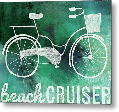 Beach Cruiser Metal Print by Katie Doucette