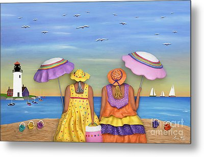 Metal Print featuring the sculpture Beach Date by Anne Klar
