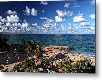 Beach Day At San Juan Metal Print by John Rizzuto