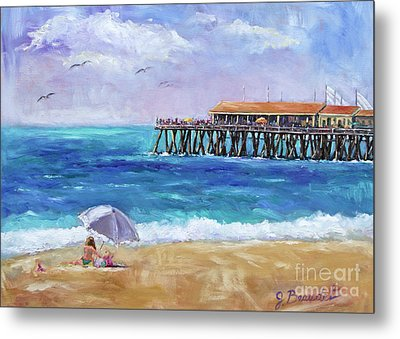 Metal Print featuring the painting Beach Day by Jennifer Beaudet